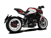 HP Corse - HP CORSE HYDROTRE SATIN STEEL SLIP ON EXHAUST: MV AGUSTA DRAGSTER/ RR [CARBON COVER]