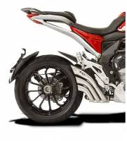 Exhaust - Full Systems - HP Corse - HP CORSE HYDROTRE SATIN STEEL SLIP ON EXHAUST: MV AGUSTA TURISMO VELOCE/VELOCE LUSSO [STEEL COVER]