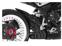 HP CORSE HYDROTRE BLACK CERAMIC COATED STEEL SLIP ON EXHAUST: MV AGUSTA DRAGSTER 800RR