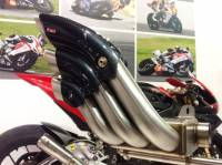 HP CORSE HYDROTRE SATIN STEEL SLIP ON EXHAUST: MV AGUSTA DRAGSTER RR [CARBON COVER]