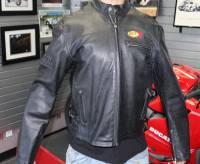 Classic High Quality Leather Jacket With High Quality Zippers, BST Patch & Embroidered Motowheels logo : Euro 56 / 46 US