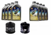 Shell - Ducati Oil Change Kit: Shell Advance 4T Ultra 10W-40 or 15W-50 Synthetic Oil & K&N Or Hiflo Oil Filter [Except PANIGALE]