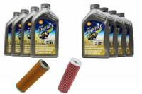 Tools, Stands, Supplies, & Fluids - Fluids - Shell - Ducati Oil Change Kit: Shell Advance 4T Ultra 10W-40 or 15W-50 Synthetic Oil & K&N Or Hiflo Oil Filter [PANIGALE series Only]