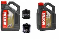 Ducati Oil Change Kit: Motul 5100 Synthetic Blend 10W-40 or 15W-50 Oil & K&N Or Hiflo Oil Filter [Except PANIGALE]