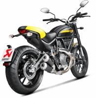 Akrapovic Titanium Black Titanium Slip-On Exhaust: Ducati Scrambler