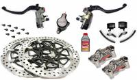 Motowheels - High Performance Brake & Clutch Kit: Ducati Panigale 1199-1299-V4 Brembo Billet Master Cylinders, Billet Calipers