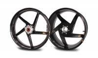 "BST Wheels - BST Diamond TEK Carbon Fiber 5 Spoke Wheel Set [6"" Rear]: Ducati 748-998, S2R-S4R, MTS1000-1100, MHE"
