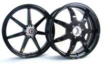 "BST Wheels - BST 7 Tek Carbon Fiber Wheel Set [6.00"" Rear]: Ducati Superbike 848, Streetfighter 848"