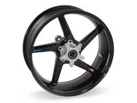 "BST Wheels - BST Diamond TEK Carbon Fiber 5 Spoke Rear Wheel [5.75"" Rear]: Ducati Monster 695ie-696-900ie, Sport Classic-GT1000, ST2-3-4-4S"