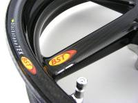 "BST Wheels - BST Diamond TEK 5 Spoke Carbon Fiber Wheel Set [6.0"" Rear]: Suzuki GSX-R 1000 '05-'08 - Image 6"