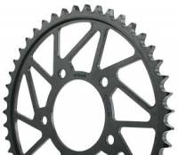 Drive Train - Rear Sprockets - SUPERLITE - Superlite RS8-R 520 Pitch Black Hard Anodized Alloy Rear Race Sprocket: Ducati 899-959 Panigale / 749-999 / Desmosedici /Scrambler