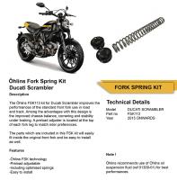 OHLINS Fork Spring kit with Preload Cap [FSK113] Ducati Scrambler