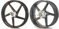 "BST Wheels - 5 Spoke Wheels - BST Wheels - BST Diamond Tek 5 Slanted Spoke Wheel Set [5.5"" REAR]: Triumph 675 [Non-R], Daytona, Street Triple '13-'19"