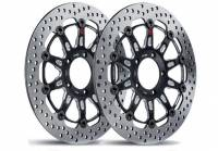 Brake - Rotors - Brembo - Brembo Groove Rotors:  [Ducati 5 Bolt 320mm/10mm Offset] Monster 796, Monster 1100 EVO, Monster 1200, Hypermotard, Diavel, MTS1200, Hyperstrada [Pair]