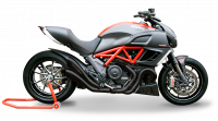 Exhaust - Slip-Ons - HP Corse - HP Corse Hydroform Slip-On Exhaust System [Evolution Line-Black Series]: Diavel