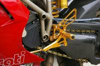 Sato Racing - Sato Racing Adjustable Billet Rearsets: Ducati 748/916/996/998