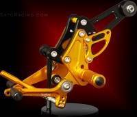 Sato Racing - Sato Racing Adjustable Billet Rearsets: Ducati Diavel - Image 2