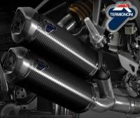 Parts - Exhaust - Termignoni - Termignoni CF Slip-On Exhaust: Ducati Monster 1100 EVO