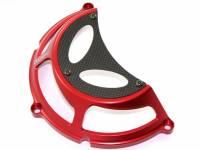 Ducabike - Ducabike Ducati Dry Half Clutch Cover: Billet Aluminum / Carbon Fiber
