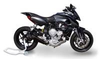 Exhaust - Full Systems - HP Corse - HP CORSE EVOXTREME BLACK STEEL EXHAUST: MV AGUSTA Rivale 800