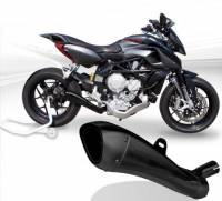 HP Corse - HP CORSE HYDROFORM STEEL SATIN BLACK EXHAUST: MV AGUSTA Rivale 800