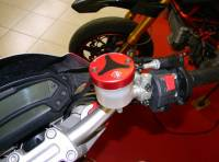 Ducabike - Ducabike Billet/CF Reservoir Cap Kit: All Ducati/Aprilia/MV Agusta Or Other Models With Brembo Brake/Clutch Reservoirs - Image 6