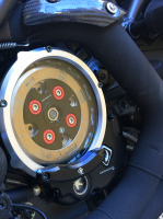 Ducabike Complete Billet Clear Clutch Cover/Pressure Plate Kit: Ducati Diavel 16 + - Image 2