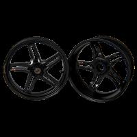 BST Wheels - BST RAPID TEK 5 SPLIT SPOKE WHEEL SET (6 inch rear): Ducati 1098/1198 /SF 1098/ MTS 1200/  M1200