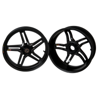 BST Wheels - BST RAPID TEK 5 SPLIT SPOKE WHEEL SET (6 inch rear): DUCATI 748-998/S2R-S4R