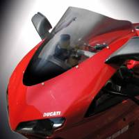 Puig - Biondi Double Bubble Tinted Racing Windscreen: Ducati 848/1098/1198 [Italian Made]