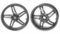 BST Wheels - BST RAPID TEK 5 SPLIT SPOKE WHEEL SET [6 inch rear]: Ducati 1098/1198 /SF 1098/ MTS 1200-1260/  M1200