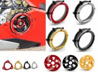 Clutch - Covers - Ducabike - Ducabike Clear Wet Clutch Cover/Pressure Plate & Pressure Plate Ring: Complete Kit For Ducati Panigale V4