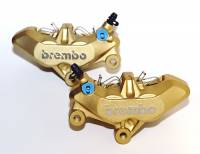 Brembo - BREMBO 4 Pad Caliper Set [65mm Mount Right / Left]: Gold