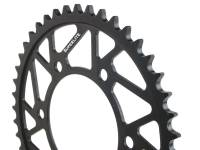 Drive Train - Rear Sprockets - SUPERLITE - SUPERLITE RS7 520 Black Steel Rear Sprocket: Aprilia RSV4 RR/ RF/ Tuono V41100