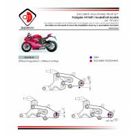 Ducabike Rear Sets: Ducati Panigale V4 [Folding foot pegs]