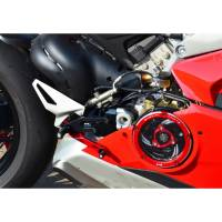 Ducabike Clear Wet Clutch Cover/Pressure Plate & Pressure Plate Ring: Complete Kit For Ducati Panigale V4