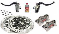 Parts - Brake - Motowheels - Brembo High Performance Brake & Clutch Kit For Panigale V4/V4R [Brembo Billet Brake/Clutch Master Cylinders, T-Drive 330mm Rotors, Billet Nickel Finished Calipers, Ti Rotor Bolts, Brake Fluid.
