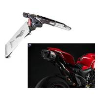 Exhaust - Slip-Ons - Termignoni - TERMIGNONI RACING EXHAUST SYSTEM LICENSE PLATE HOLDER: PANIGALE V4