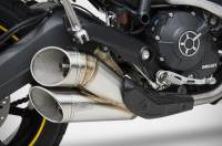 Parts - Exhaust - Zard - ZARD DUCATI SCRAMBLER EVO-R SLIP-ON EXHAUST WITH REMOVABLE DB-KILLERS