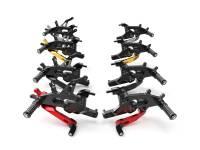 Ducabike - Ducabike Rear Sets: Ducati Panigale V4, Black [Fixed foot pegs]
