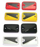 Parts - Brake - Ducabike - Ducabike Billet Aluminum & Carbon Brake/Clutch Fluid Reservoir Caps: Ducati Scrambler 1100