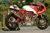 """BST Wheels - BST Diamond TEK Carbon Fiber 5 Spoke Wheel Set [5.75"""" Rear]: Ducati Sport Classic, Paul Smart, GT1000 - Image 7"""