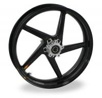 BST Wheels - 5 Spoke Wheels - BST Wheels - BST Diamond TEK Carbon Fiber 5 Spoke Front Wheel: Ducati 749-999, 1098-1198, S4RS, HM, MTS