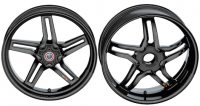 BST Wheels - BST RAPID TEK Carbon Fiber 5 SPLIT SPOKE WHEEL SET: Ducati Diavel / X Diavel