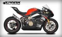 "Spark - SPARK DUCATI PANIGALE V4 ""GRID"" TITANIUM SEMI-FULL EXHAUST SYSTEM Made in Italy"