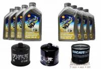 Shell - Ducati Oil Change Kit: Shell Advance 4T Ultra 10W-40 or 15W-50 Synthetic Oil & Oil Filter [Except PANIGALE] - Image 1