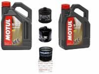 Motul - Ducati Oil Change Kit: Motul 5100 Synthetic Blend 10W-40 or 15W-50 Oil & Choice of Oil Filter [Except PANIGALE] - Image 1