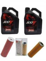 Motul - Ducati Oil Change Kit: MOTUL 300V 10W-40 or 15W-50 Synthetic Oil & Choice of Oil Filter Filter [PANIGALE Series Only]