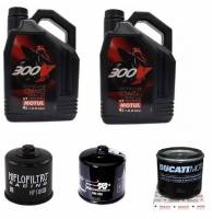 Engine & Performance - Engine Internal - Motul - Ducati Oil Change Kit: MOTUL 300V 10W-40 or 15W-50 Synthetic Oil & Choice Of Oil Filter [All Ducatis Except PANIGALE]