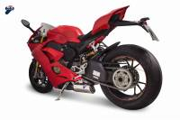 Termignoni Dual Silencer Racing Slip-On Exhaust Kit: Ducati Panigale V4 [All the series]